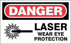 DANGER - LASER WEAR EYE PROTECTION - DA991
