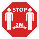 "Custom Social Distancing Signs - 18.5"" x 18.5"" Floor Decals  - As Low as $14.99@"