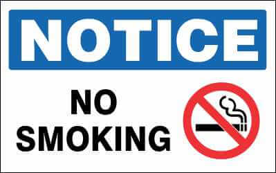 NOTICE Sign - NO SMOKE