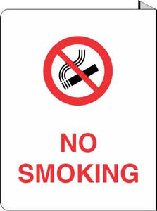 "No Smoking - 8.5"" x 11"" Projecting Sign / No. R146"