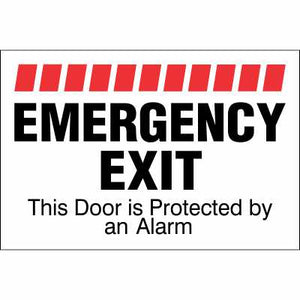EMERGENCY EXIT -  Sign