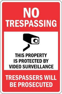 NO TRESPASSING Sign - VIDEO SURVEILLANCE