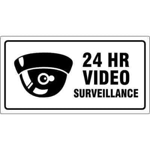 24 HOUR VIDEO SURVEILLANCE Security Sign