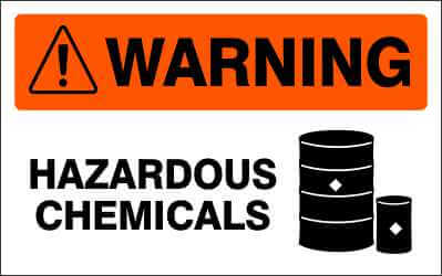 WARNING Sign - HAZARDOUS CHEMICALS