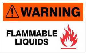 WARNING Sign - FLAMMABLE LIQUIDS