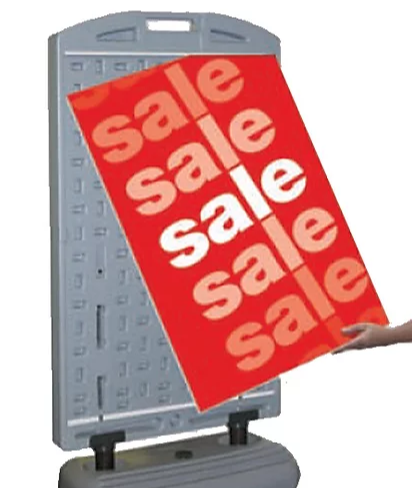 Sidewalk Sign - removable graphics panels
