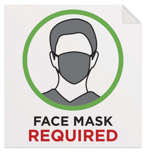 Face Masks Required Sign - English