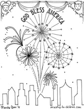 Load image into Gallery viewer, Patriotic Independence Printables (FREE) Coloring Pages for the 4th of July (6 Pages)