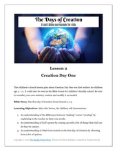 "Load image into Gallery viewer, ""The Days of Creation"" 8 Week Curriculum"