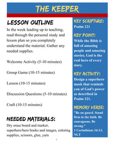 Bible Heroes: FREE Sample Lesson (download only)