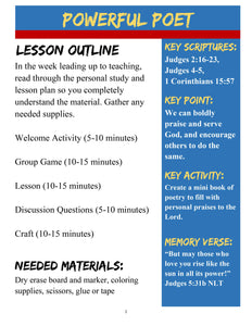 Bible Heroes: 5-Week Children's Ministry Curriculum (download only)