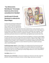 "Load image into Gallery viewer, ""Los Héroes de la Nochebuena""  5 lecciones bíblicas en español (5-Week Christmas Curriculum in Spanish)"