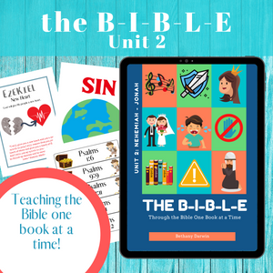 The BIBLE Unit 2:  Nehemiah to Micah (13 Week Curriculum)