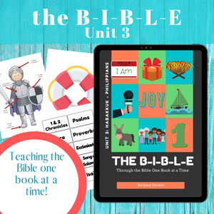 The BIBLE Unit 3:  Habakkuk to Philippians (12 Week Curriculum) download only
