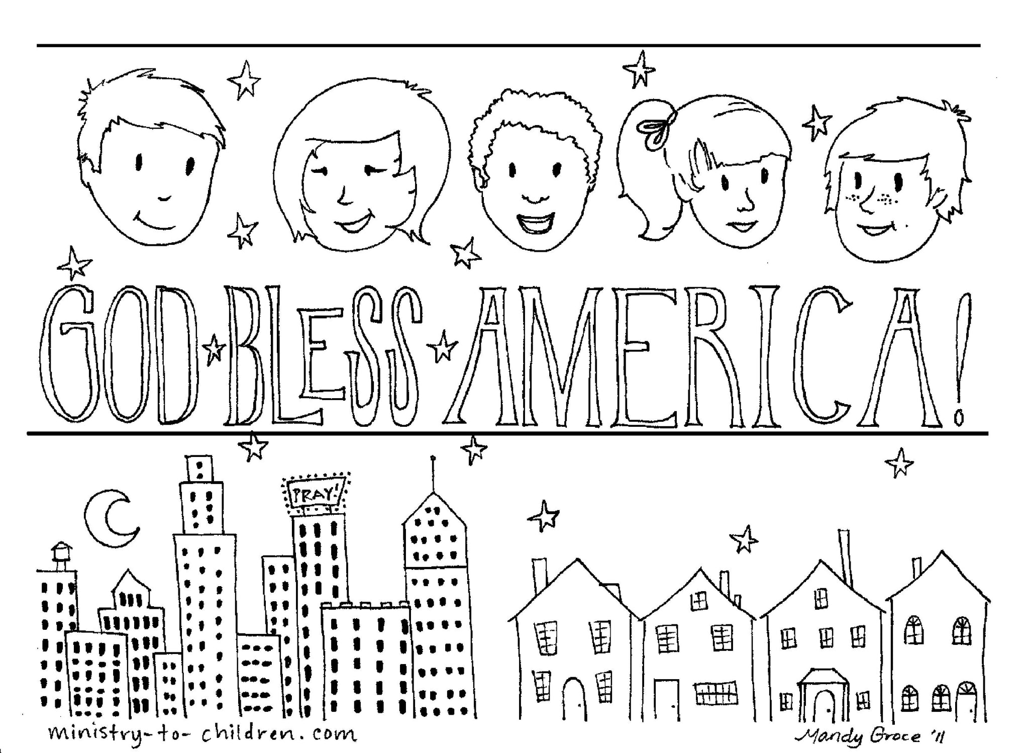 Patriotic Independence Printables (FREE) Coloring Pages