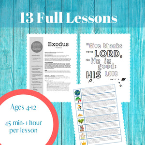 The BIBLE Unit 1: Genesis to Ezra (13 Week Curriculum)