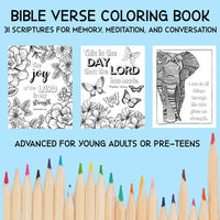 Bible Memory Verse Coloring Book (31 Pages) download only