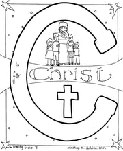 Load image into Gallery viewer, Bible Alphabet Coloring Pages (26 pages) Teacher Talking Points