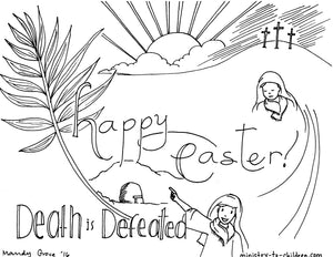15 Easter Coloring Pages (religious) FREE Download