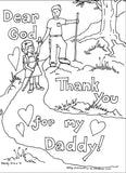 Father's Day Coloring Book (FREE) 7 Pages
