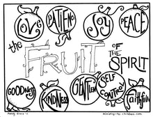 Load image into Gallery viewer, The Fruit of the Spirit Coloring Book (FREE) 11 Pages
