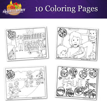 Load image into Gallery viewer, The Fruit of the Spirit: 10-Page Coloring Book (download only)