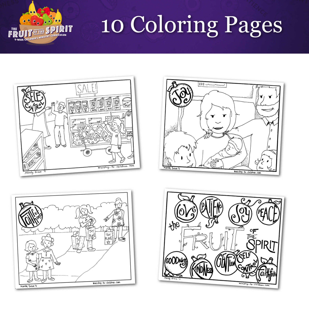 The Fruit of the Spirit: 10-Page Coloring Book (download only)