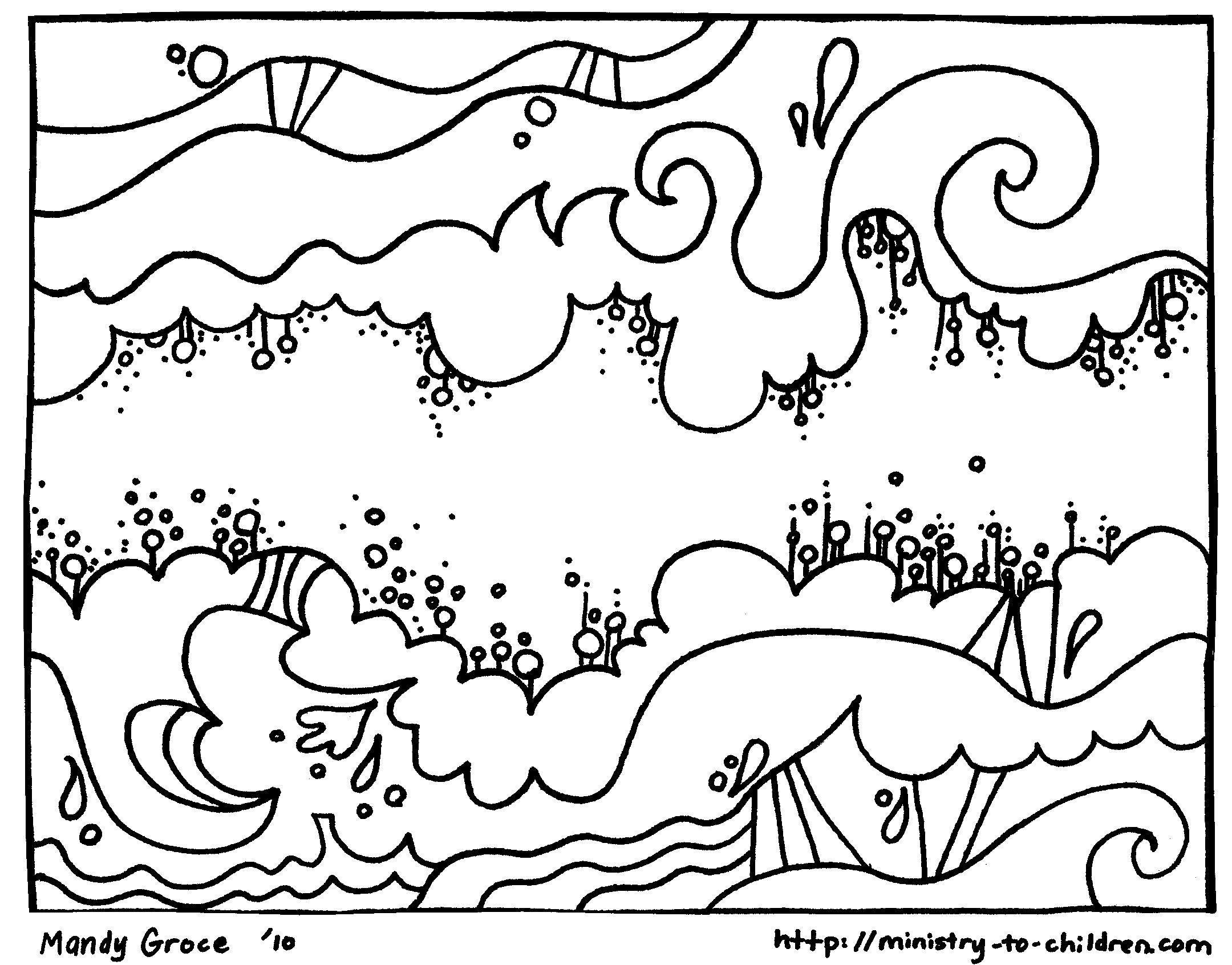 Days of Creation Coloring Pages - Christian Preschool Printables | 1692x2160