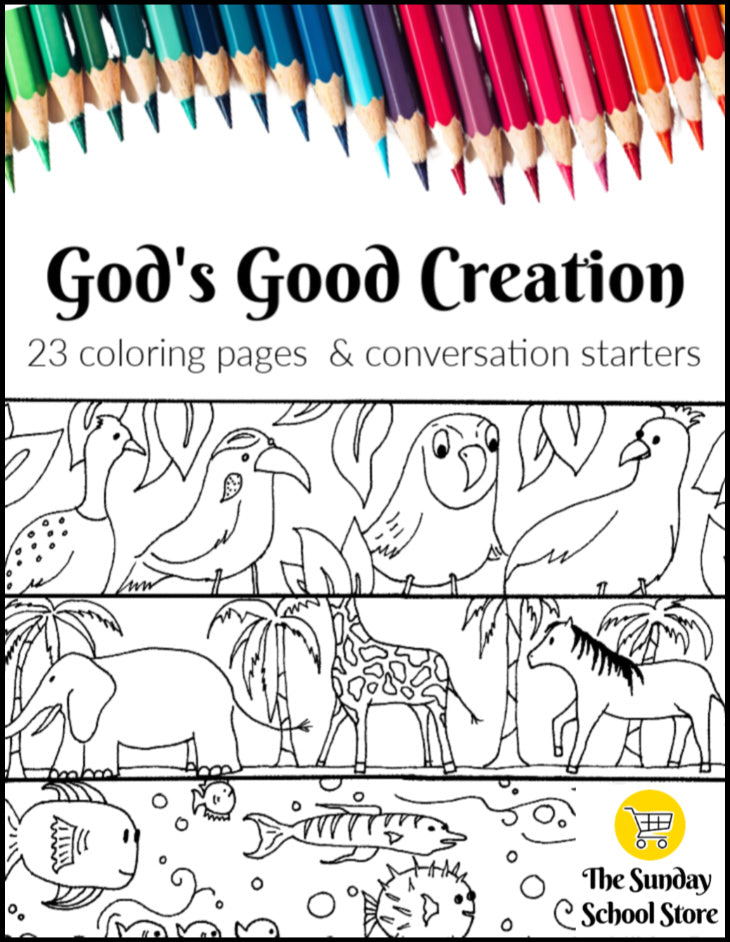 Creation Coloring Pages Easy Print Pdf Ministry To Children