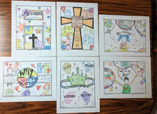 Load image into Gallery viewer, Jesus is my King: 5-Page Coloring Book (FREE)