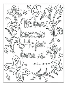 Bible Memory Verse Coloring Book (31 Pages) Advanced for Young Adults or Pre-Teens