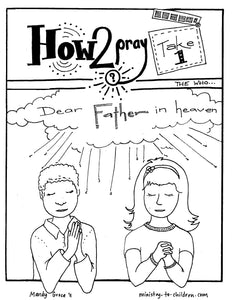 The Lord's Prayer Coloring Book for Kids (FREE) 5 Pages  (download only)