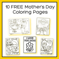 Mother's Day Coloring Bundle 10 pages (download only)