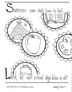Back To School Coloring Pages (FREE)