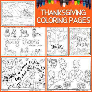 Thanksgiving Coloring Pages (FREE) 8-Page PDF Download