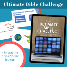 Load image into Gallery viewer, Ultimate BIBLE Trivia Challenge: 5 Week Virtual Children's Ministry Curriculum (Season 1)