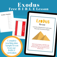 Load image into Gallery viewer, Exodus Bible Lesson (FREE) Curriculum Sample