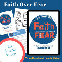"""""""Faith Over Fear"""" Free Sample Lesson (download only)"""