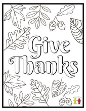 Load image into Gallery viewer, Thanksgiving Coloring Pages (FREE) 8-Page PDF Download