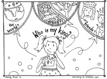 Load image into Gallery viewer, Who is my King coloring page