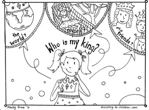 Who is my King coloring page
