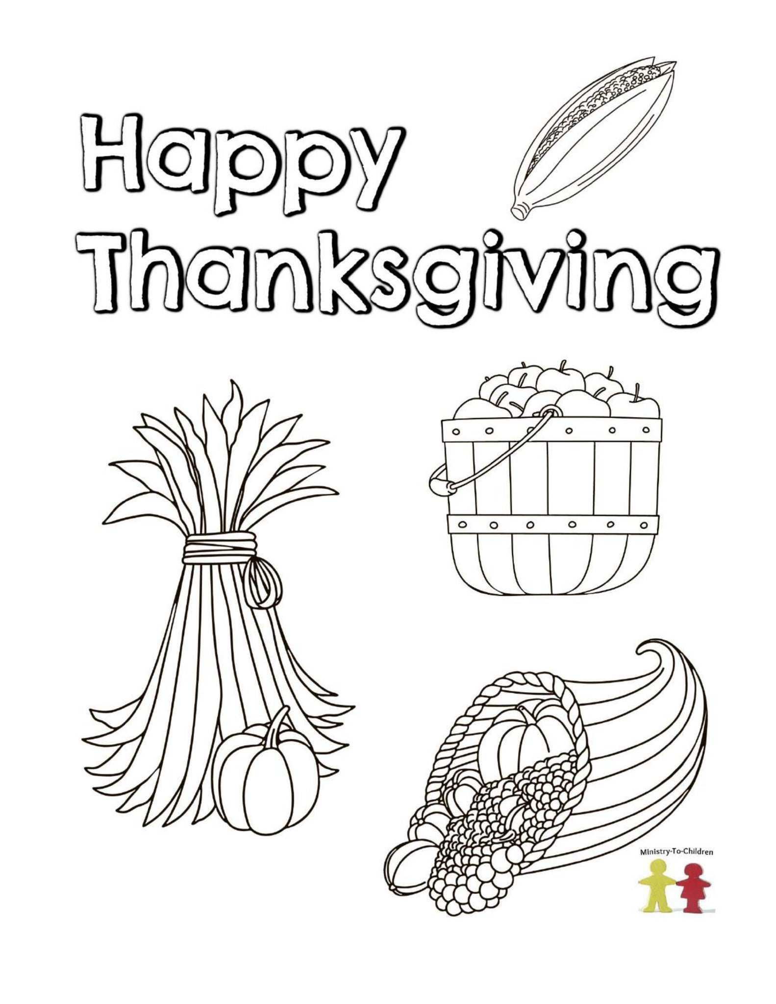 Thanksgiving Coloring Pages (FREE) 8-Page PDF Download ...