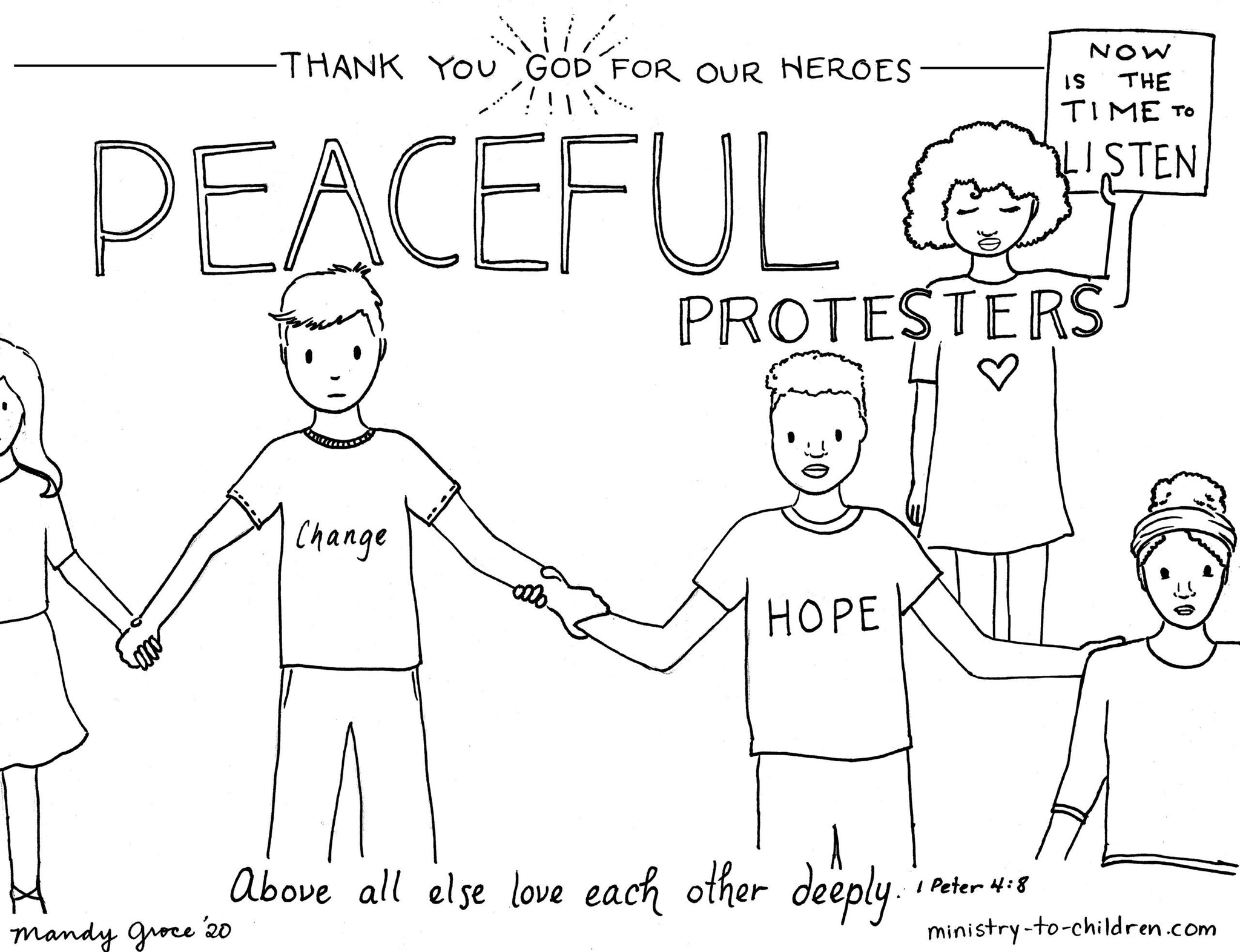Everyday Heroes Coloring Book (FREE) 8-Page PDF Download