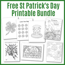 Load image into Gallery viewer, Free religious coloring pages for St. Patrick's Day.