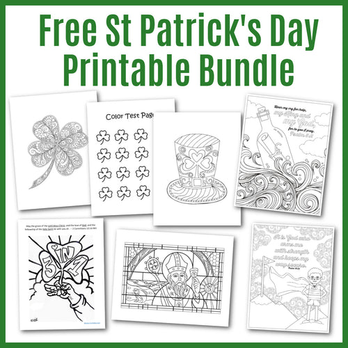 Free religious coloring pages for St. Patrick's Day.