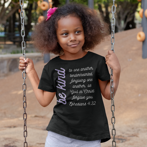 Be Kind - Kids Version - Ephesians 4:32 Bible Verse T-Shirt