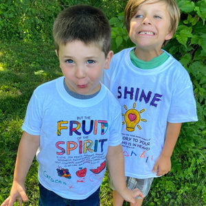 Fruit of the Spirit coloring craft shirt