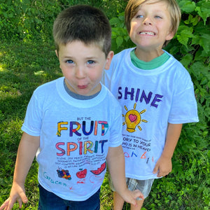 "CRAFT shirt ""Fruit of the Spirit"" coloring tee"
