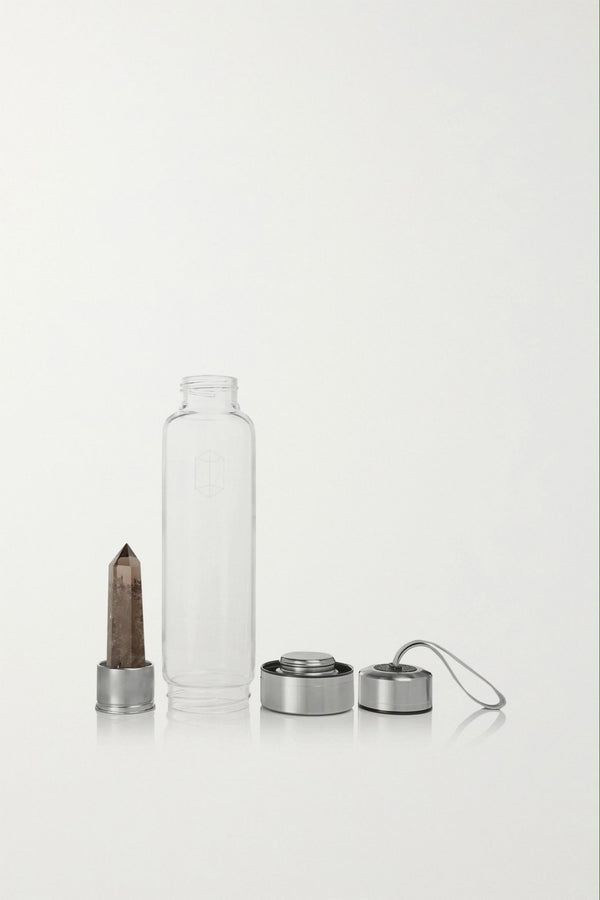 SMOKEY QUARTZ CRYSTAL-INFUSED WATER BOTTLE