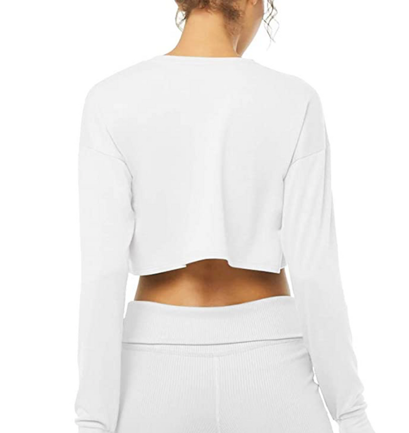 Bare Cropped Long Sleeve Top